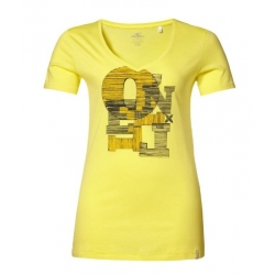 T-SHIRT damski O'neill LW ELLI S/SLV TEE Light Yellow