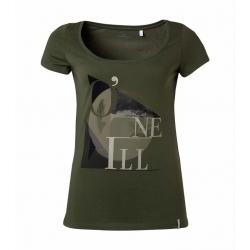 T-SHIRT damski O'neill LW FREE S/SLV TEE Olive Leaves
