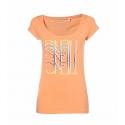 T-SHIRT damski O'neill LW NINA S/SLV TEE Neon Peach