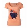 T-SHIRT damski O'neill LW FREE S/SLV TEE Neon Peach