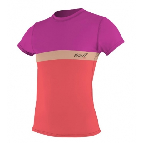 Lycra O'Neill 2013 WMS COLOR BLOCK S/S RASH