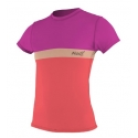 Lycra O'Neill WMS COLOR BLOCK S/S RASH