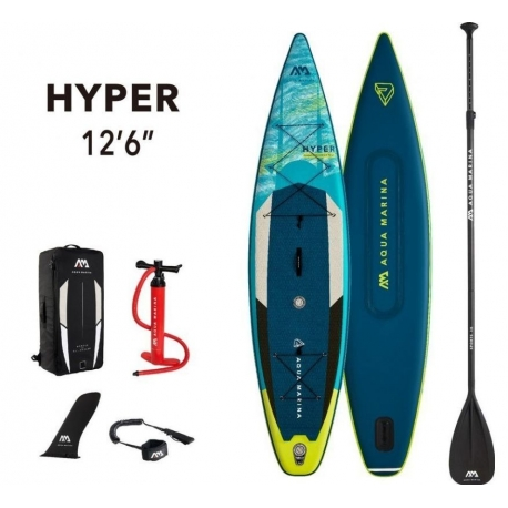 "Deska SUP Aqua Marina HYPER 12'6""/ pompka +wiosło"
